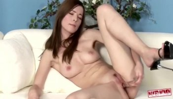 Busty young slut Catalina Taylor gets naked in pov