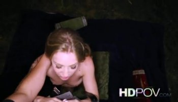 Hottie first public sex