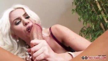 Petite Emma Snow Greases a Stiff Dick