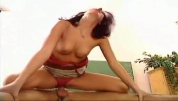 Busty lady needs some young man milk for her flowers